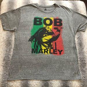 🇯🇲 Bob Marley Tee Men's XL Grey Rasta ❤️💛💚